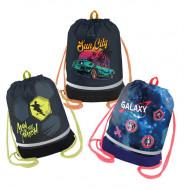 Мешок для обуви 1 отделение Berlingo, 510*400мм, расшир. дно, светоотр. лента, карман на молнии для мал.