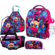 Ранец DeLune Full-set 7mini-015 + мешок + жесткий пенал + спортивная сумка + фартук для труда + мишка + ленточка