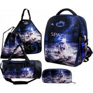 Ранец DeLune Full-set 7mini-019 + мешок + жесткий пенал + спортивная сумка + фартук для труда + часы