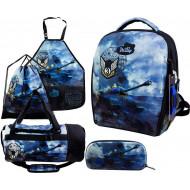 Ранец DeLune Full-set 7mini-020 + мешок + жесткий пенал + спортивная сумка + фартук для труда + часы